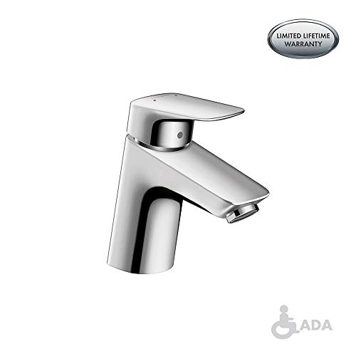 hansgrohe Logis  Modern 1-Handle  5-inch Tall Bathroom Sink Faucet in Chrome, 71070001