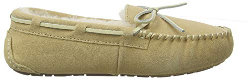 Australiana Di Donna Mocassinos Pelliccia Pantofole Beige Pecora Camoscio 8gqIqWwF