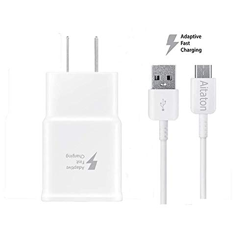 - Galaxy S7 Adaptive Fast Charging Wall Charger Kit Set with Micro 2.0 USB Cable, Compatible with Samsung Galaxy S7/S7 Edge/S6/Note5/4 /S3 (White)