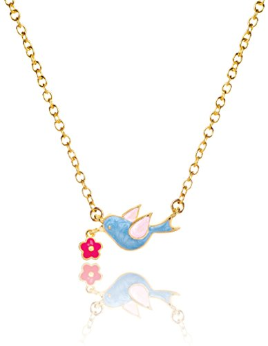 (Girl Nation Little Treasures Collection Enamel Woodland Blue Bird 16