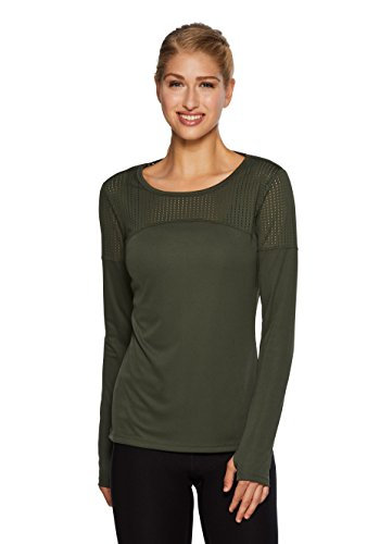 War S/s Tee (RBX Active Women's Lightweight Open Mesh Long Sleeve Running T-Shirt Green S)