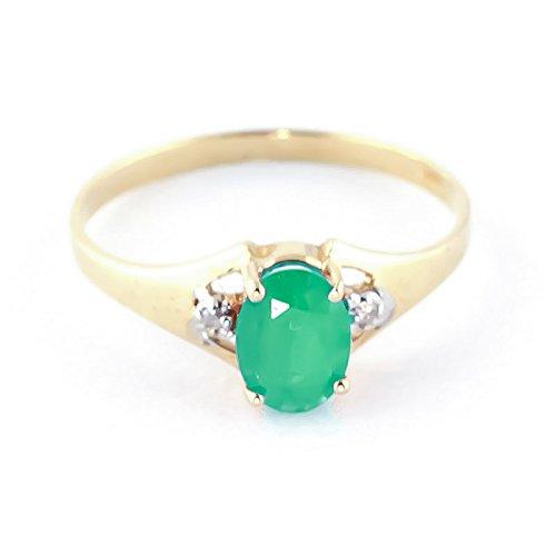 QP joailliers naturel & Diamant émeraude en or 9carats, 1,25CT Coupe ovale-4250y