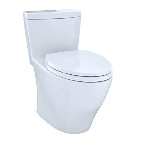 Toto MS654114MF#01 1.6GPF and 0.9GPF Aquia One-Piece Toilet, Cotton