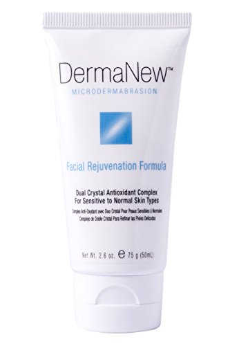 DermaNew MicroDermabrasion Cream Refill - Cleansing and Resurfacing Dual Crystal Antioxidant Complex - Facial Rejuvenation Formula (2.6 oz) Dermanew Crystal
