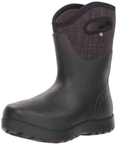 - Bogs Women's NEO-Classic Snow Boot, mid Linen Black/Multi, 9 Medium US