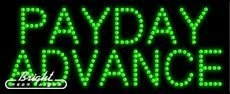 Payday advance LED Sign Made in USA 27 x 11 x 1 inches