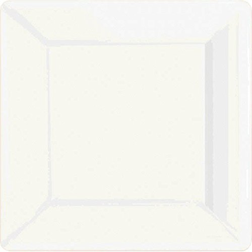 Frosty White Square Paper Plates | 10