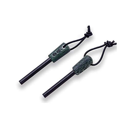 Joker Feuerstahl PD09, grünes Leinenmaterial mit schwarzer Leine, Werkzeug zum Angeln, Jagen, Camping und Wandern