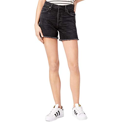Citizens of Humanity Womens High-Rise Ripped Denim Shorts Black 30 from Citizens of Humanity