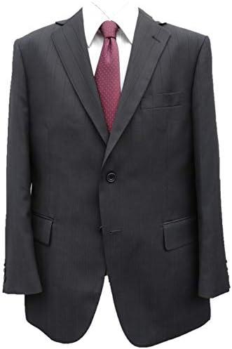 オールシーズン【大きいサイズ有】アジャスター付ウォッシャブルスーツ(黒織り柄)