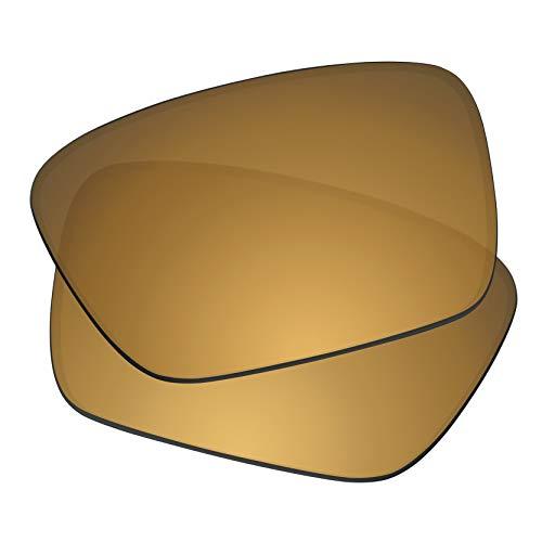 Predrox Metallic Bronze Mirror Fuel Cell Lenses Replacement for Oakley Sunglass OO9096 Polarized ()