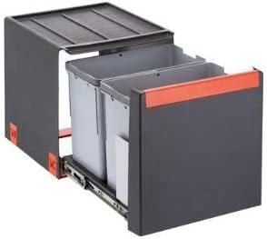 Franke 134.0039.330 Clasificador de Residuos, Negro, 34.8 x 33.5 x 40.7 cm