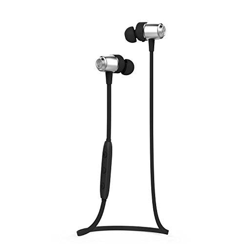 Magnet Bluetooth Headphones with APT-X, J&L-103 Wireless Earphones Sweatproof Sport Earbuds w/Mic, Noise Isolation, Premium Sound with Bass (Grey)