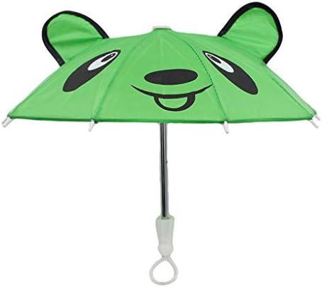 T TOOYFUL ミニ傘 撮影 装飾 ドール フィギア 飾り人形用 傘 18インチドール傘 アンブレラ アクセサリ 緑