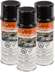 3 Pack Black Waterfall Foam 12oz Can Atlantic Water Gardens