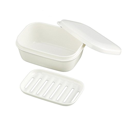 MXY Soap Box - Arbor Home White Color Rectangle Soap Case