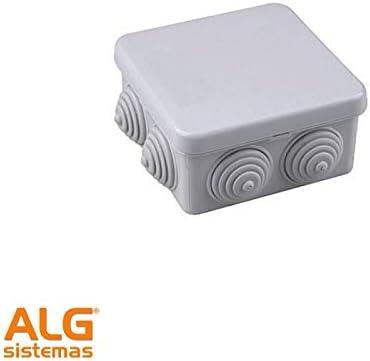 Evila - Caja empalme estanca cuadrado/a 80x80x40 ip54 gris: Amazon.es: Bricolaje y herramientas