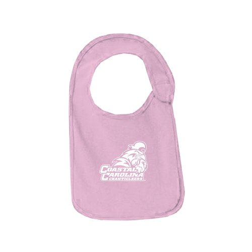 Coastal Carolina Light Pink Baby Bib 'Official Logo' by CollegeFanGear