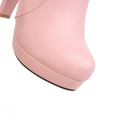 Women's Shoes Leatherette Spring Winter Cowboy / Western Boots Fashion Boots Boots Chunky Heel Round Toe Booties/Ankle Boots Bowknot For blushing pink RRdJ8