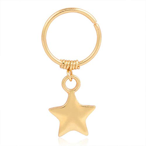 Cute Fashion Star Cartilage Helix Earring Nose Ring Body Piercing Women Jewelry Accessory Jewerly Stylish Design Bright Girls Pretty Brides Comfortable Charms