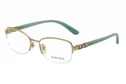 Versace Women's VE1230B Eyeglasses Pale Gold - Versace Price Eyewear