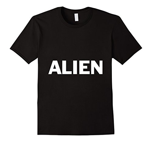 [Men's Alien Lazy Halloween Costume Funny T Shirt 2XL Black] (Out Of This World Alien Costume)