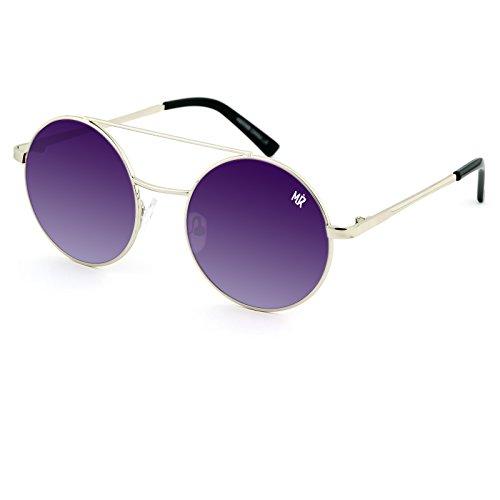 Argent soleil RONDE vintage de femme VICTORIA Lunettes MYRETRO Fumée fashion homme Violet mod CULT B6ZxZPaw