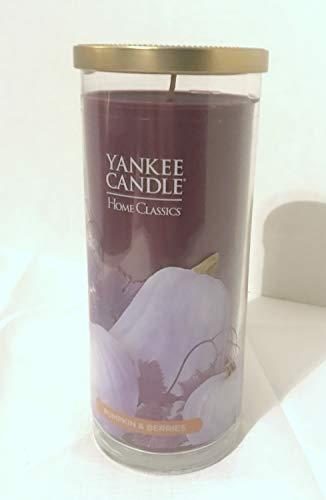 Pumpkin Pillar (Yankee Candle New Pumpkin and Berries 20oz Decorative Large Pillar Jar Candle)