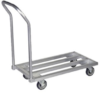 Focus Foodservice FMADR3620 Dunnage Mobile Rack, Heavy Duty Aluminum, 36'' x 20'', 4 Support Bars, 1200 lbs Capacity