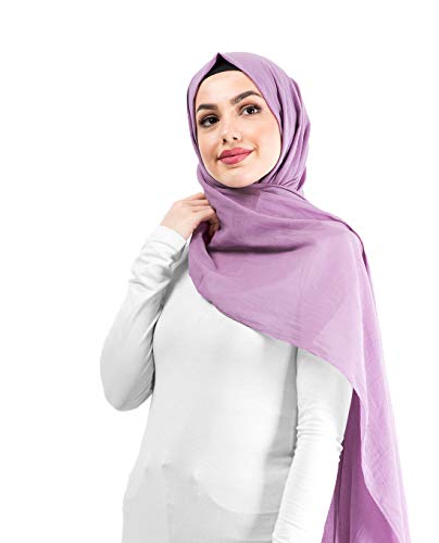 InEssence Dusty Lavender Cotton Voile Scarf Women Girls Wrap Large Size Hijab