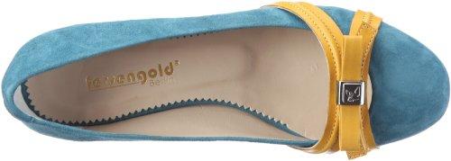 Venedig Gelb de 15 Blau mujer Azul Fersengold Bailarinas para cuero 1123 RwUIqd