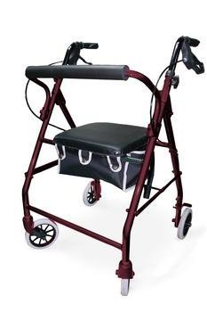 Acc Basket (Deluxe Folding Rollator with Padded Basket and Padded Seat - Burgundy by Rollators Acc)