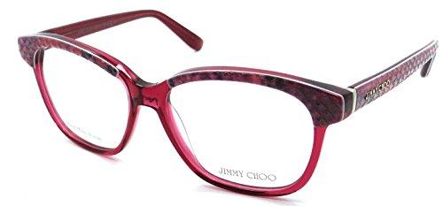 Jimmy Choo Python - Jimmy Choo Rx Eyeglasses Frames JC 97 8ZW 53-15-140 Plum Python Fuchsia Italy