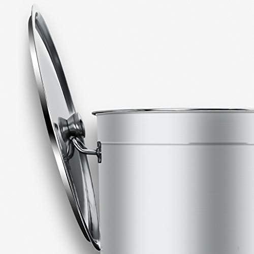 HEAVY Grande Casserole, faitout en Acier Inoxydable avec Couvercle en sécurité Professionnelle - Compatible avec différents poêles, diamètre 45 cm, Hauteur 45 cm