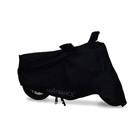 Mototrance MT800001-A Two Wheeler Body Cover for Royal Enfield Classic 350 (Black)