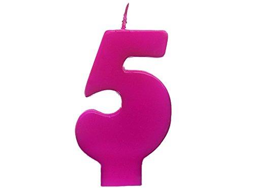 Cumpleaños de la vela - número 5 - Colour de rosa: Amazon.es ...