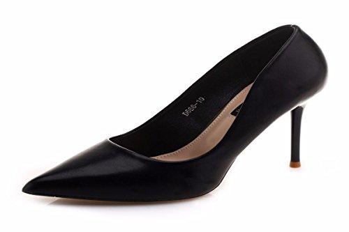 da HBDLH Tacchi Scarpe black 10Cm Di Colore donna Sottile Scarpe Da Sharp Superficiale A Di Donna Estate Spillo Scarpe Di Professionista E 5UUqwxrOf