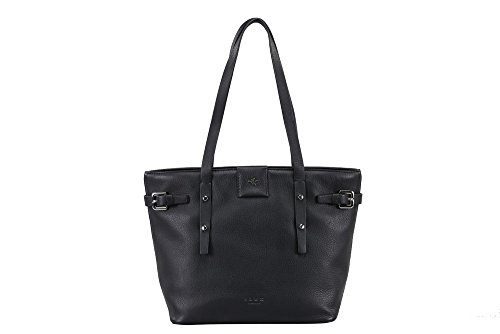 ILEX LONDON Women's Elle Bucket Bag H 23 X L 34 X W 12 Cms (Elle Black Bag)