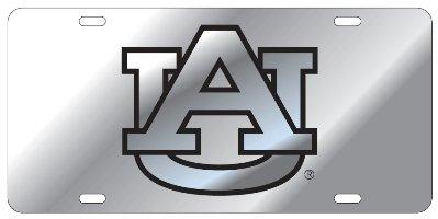 Auburn Tigers Silver Mirrored Auto License Plate Tag ()