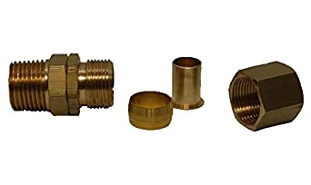 Plastair Industrial FCN909 Male Brass Replacement Snapback Swivel Fitting 3//4 x 3//4