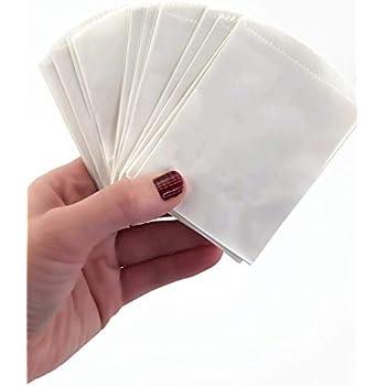 50 Mini White Paper Bags - 4