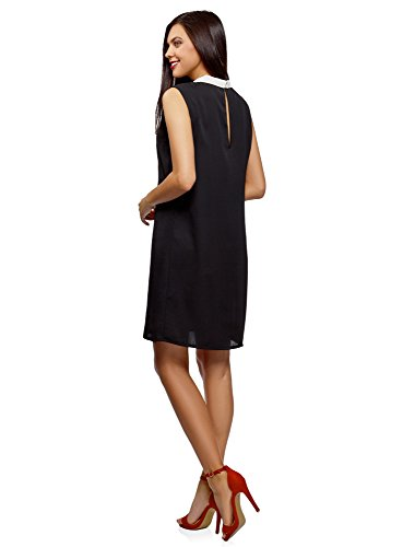 Robe Femme Col Coupe Noir Ultra Ample Rabattu 2912b oodji Pq5T1xW