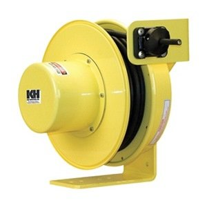 KH Industries RTF Series ReelTuff Industrial Grade Retractable Power Cord Reel, 12/4 SOOW Cable, 16 Amp, 60' Length, Yellow Powder Coat Finish