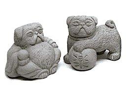3 ZEN Mini Buddha Foo Pug Dog Figurines
