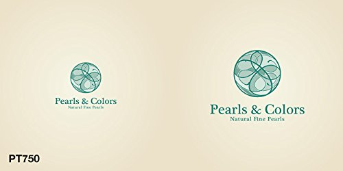 Pearls & Colors - Boucles d'oreilles pendantes - Or blanc 9 cts - Perle de culture de Tahiti - AM-9BOT 176 SB8B