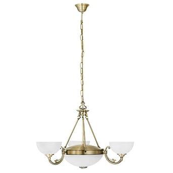EGLO Savoy Lámpara de techo colgante E27, Bronce: Amazon.es ...