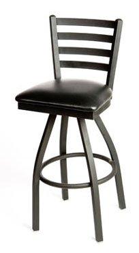 Oak Street Swivel Bar Stool metal ladder back seat to be specified black - SL2301-S
