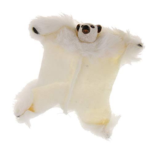 1/12 Dolls House Furniture Miniature Fabric Bear Rug Floor Carpet Coverings from Brosco