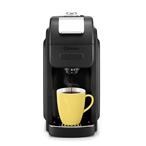 ODA KITCHEN 1128B Single Serve Coffee Maker Programmable with 50 oz Large Removable Reservoir Compatible with The Single Cup Pod, 6 to 16 oz Brew Size for Office, Travel, Black -
