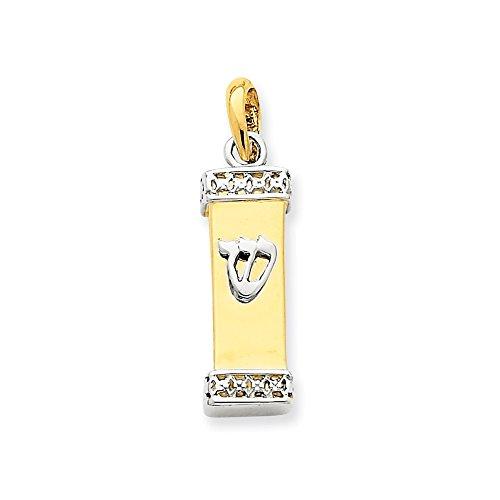 Best Designer Jewelry 14k Two-tone Mezuzah Pendant